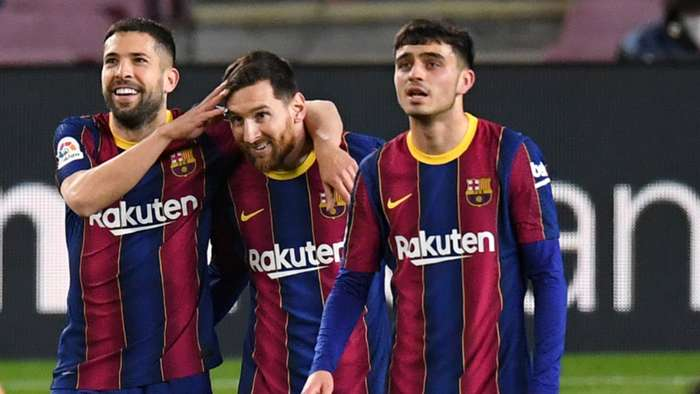 Barcelona Messi Alba Pedri