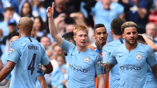 Man City celebrate vs Watford 2019