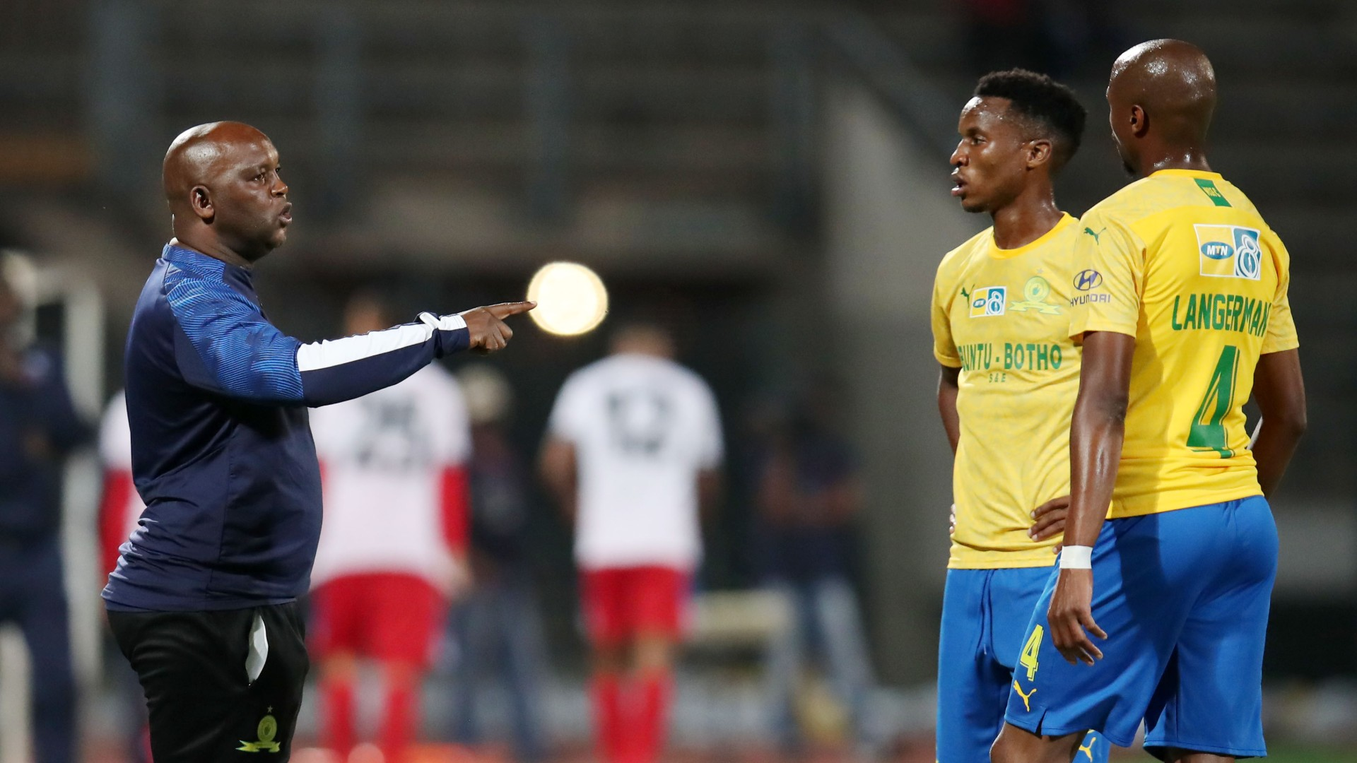 Pitso Mosimane Themba Zwane Tebogo Langerman - Mamelodi Sundowns August 2020