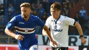 Gaston Ramirez, Marten De Roon, Sampdoria, Atalanta, Serie A, 15102017