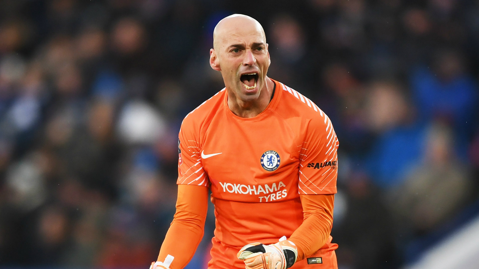 FA Cup Final 2018: Chelsea goalkeeper Willy Caballero hopes to start ahead  of Thibaut Courtois against Manchester United | Goal.com