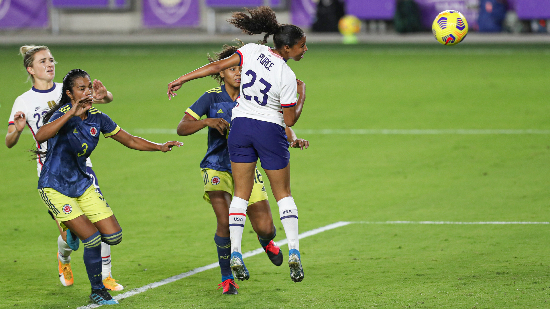 Macario and Purce open USWNT accounts while Mewis injury scare sours routine Colombia win