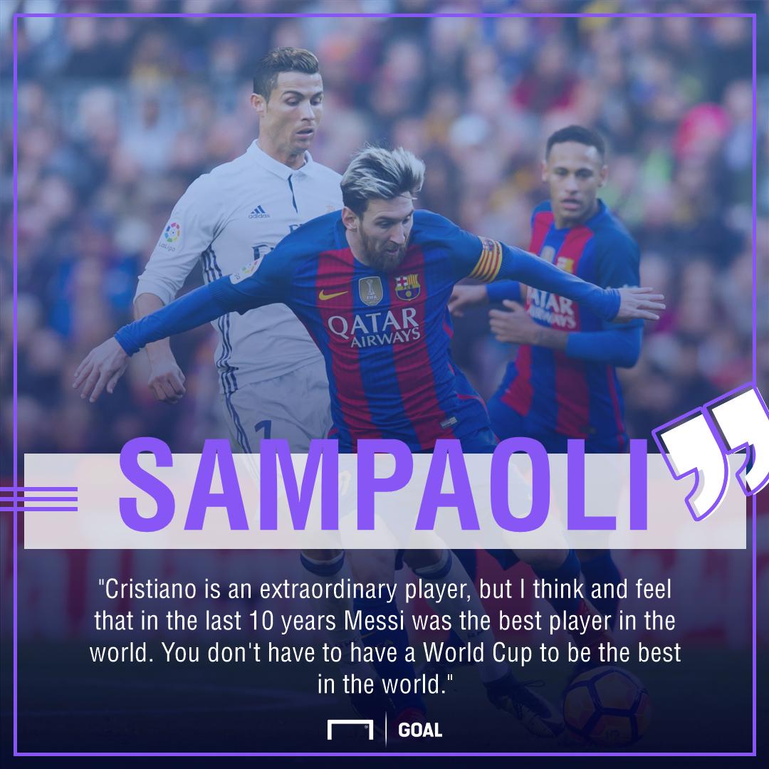 Jorge Sampaoli Lionel Messi Cristiano Ronaldo best