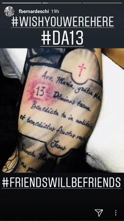 Tatuaggio Bernardeschi Astori