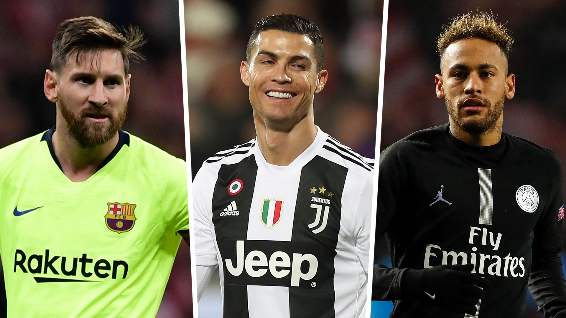 Fifa Player Ratings History How Cristiano Ronaldo Lionel Messi And Neymar S Stats Have Changed Goal Com