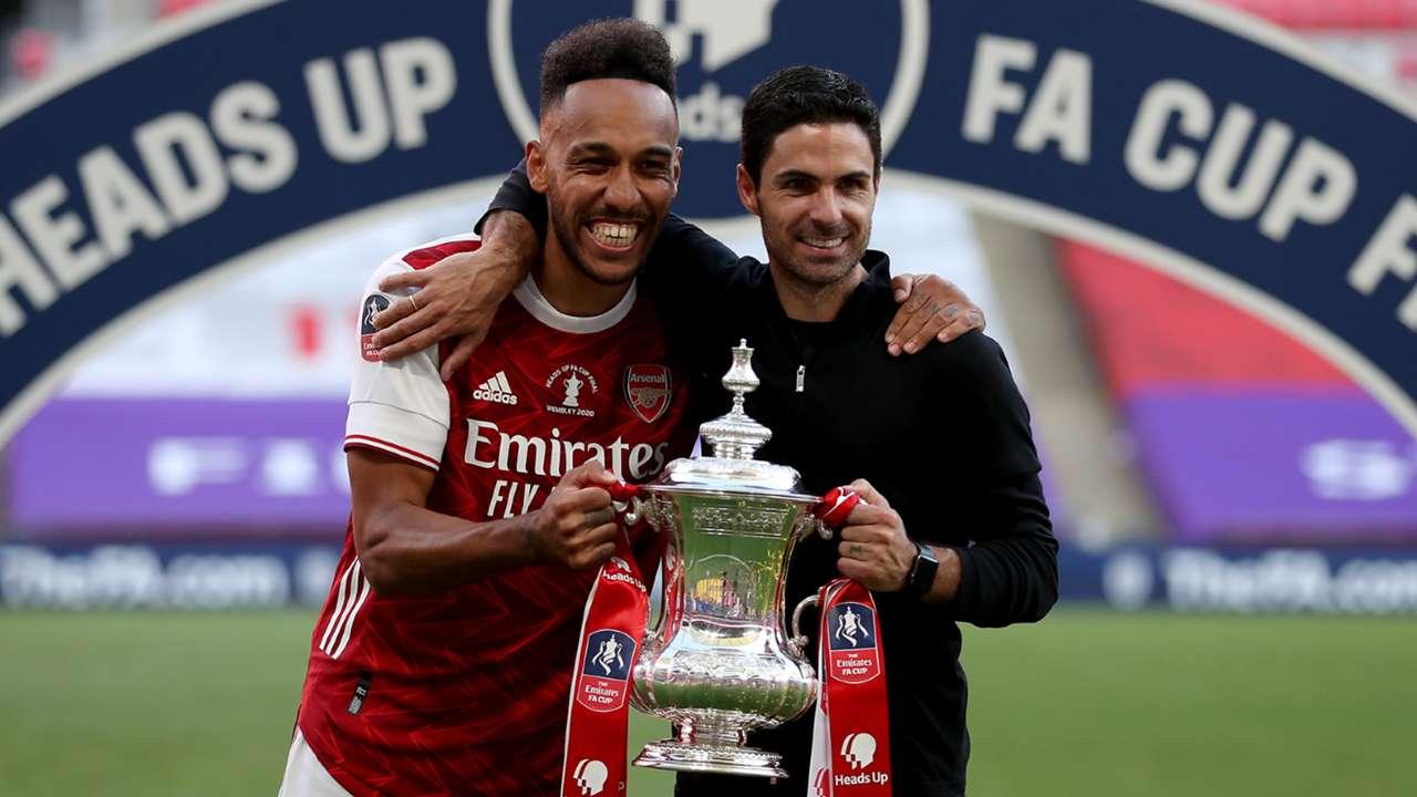 Pierre-Emerick Aubameyang Mikel Arteta Arsenal FA Cup 2019-20