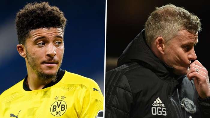 Jadon Sancho Ole Gunnar Solskjaer Manchester United Borussia Dortmund GFX
