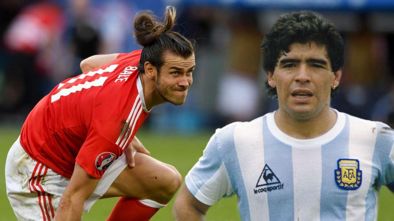 Gareth Bale Diego Maradona GFX