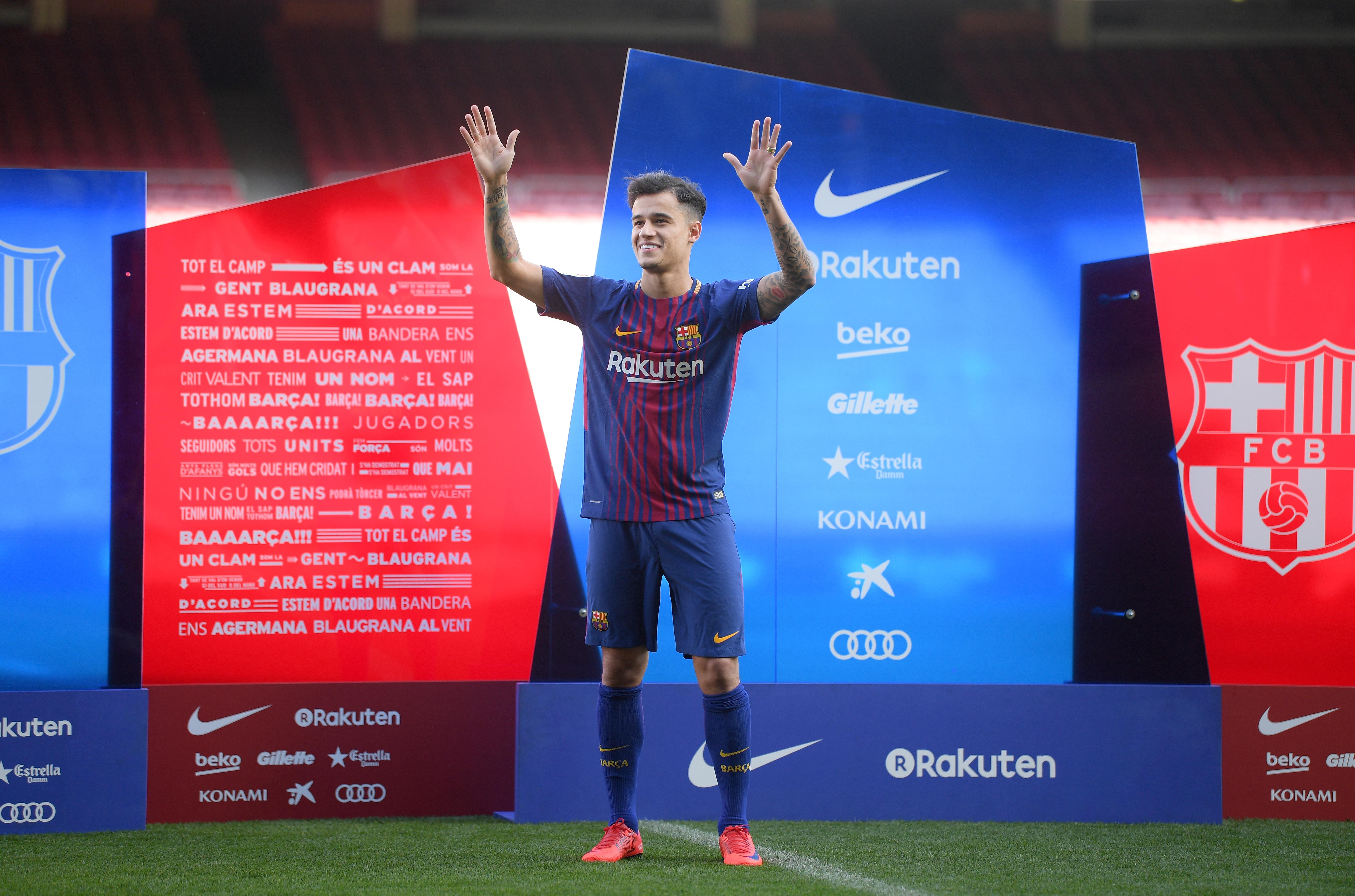 Philippe Coutinho Barcelona presentation