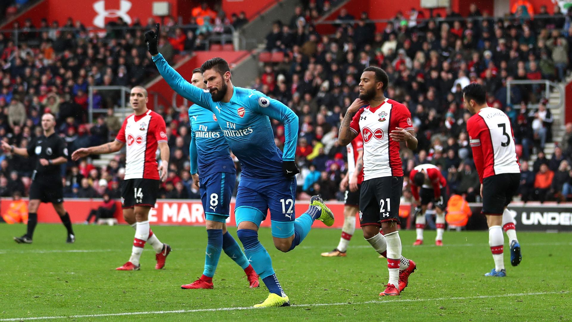 Olivier Giroud Arsenal Southampton