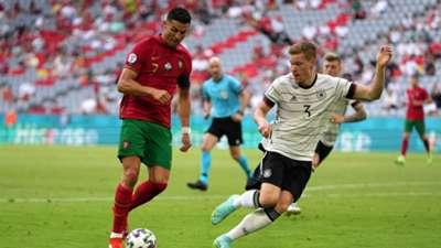 Ronaldo, Halstenberg, Portugal vs Germany Euro 2020