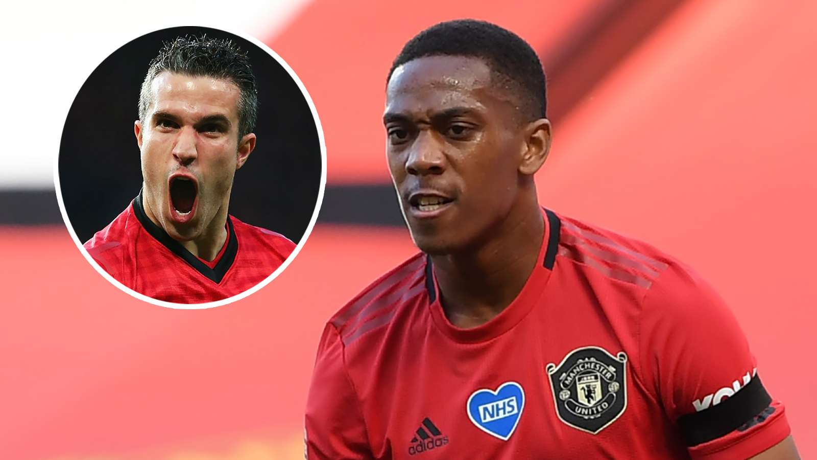 Robin van Persie Anthony Martial Man Utd