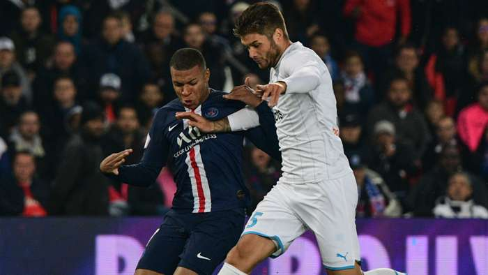 Duje Caleta-Car Kylian Mbappe PSG Marseille Ligue 1 27102019