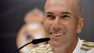 Zinedine Zidane, Real Madrid coach, during a press conference in 2019-20 season