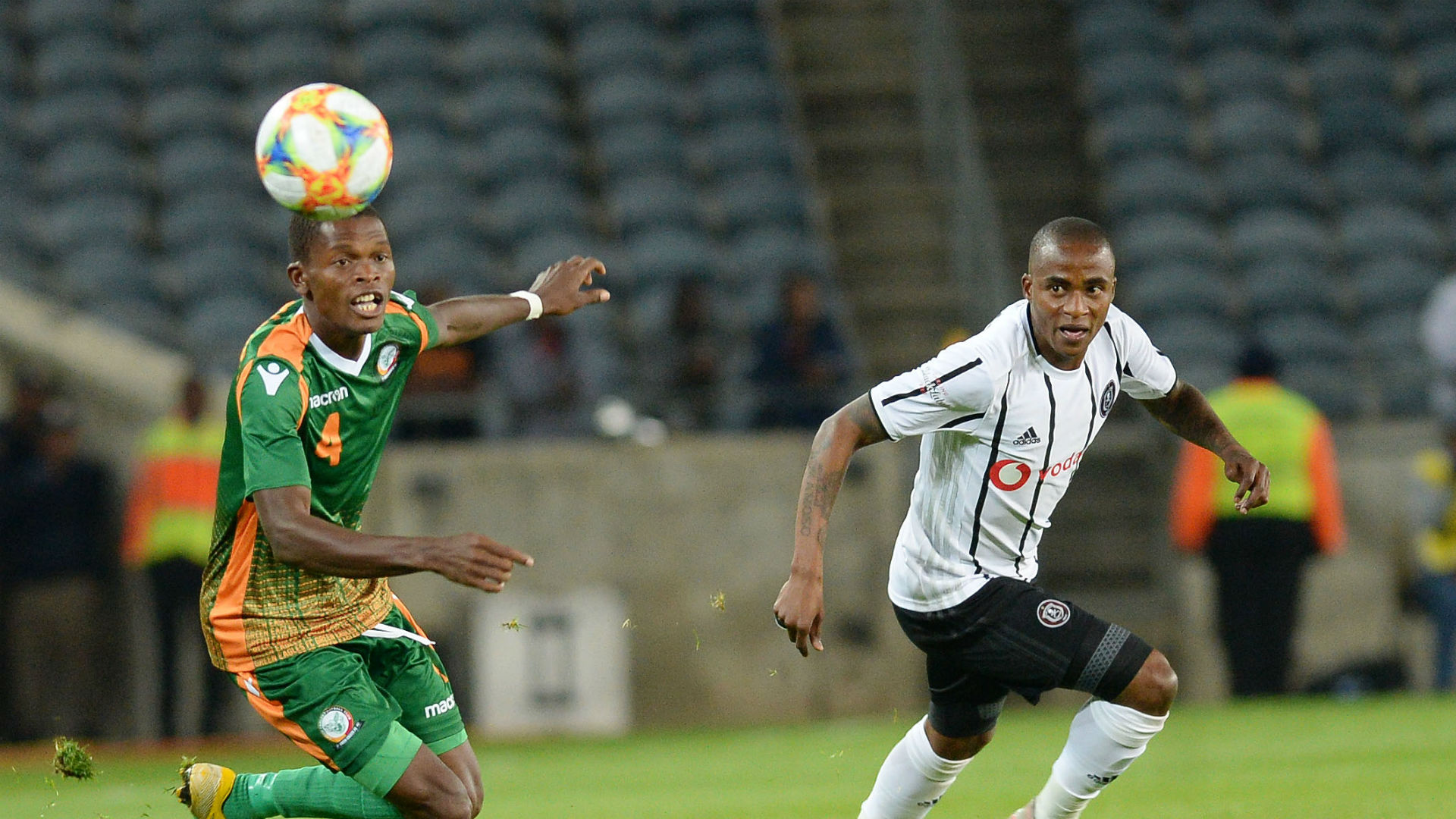 Thembinkosi Lorch of Orlando Pirates against Green Eagles, August 2019