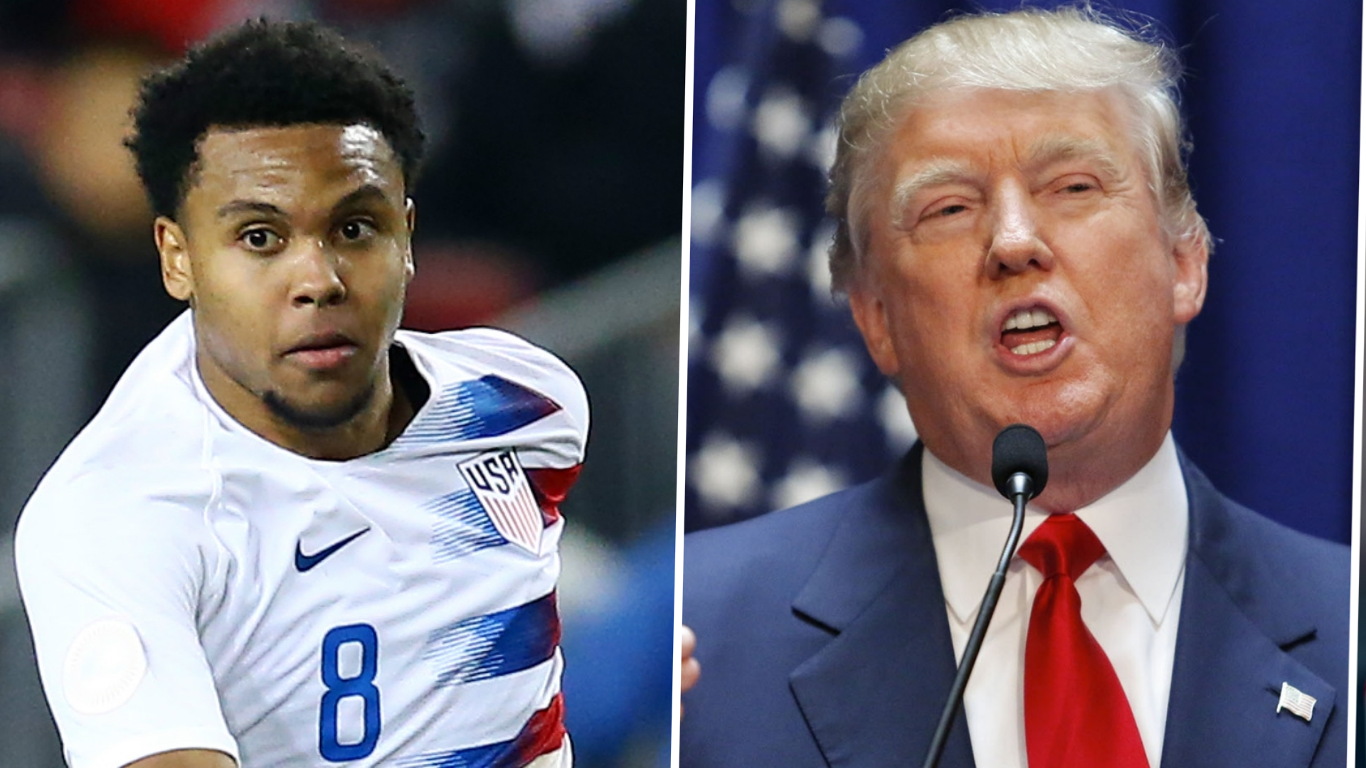 'I think he's ignorant' - McKennie hits out at 'racist' Trump