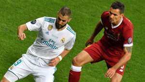 Karim Benzema Dejan Lovren Real Madrid Liverpool UCL