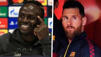 Sadio Mane Lionel Messi