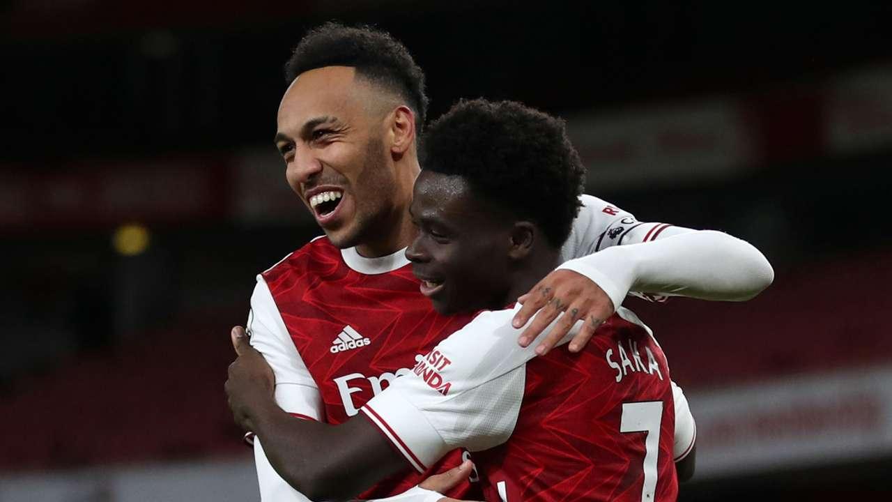 Pierre-Emerick Aubameyang, Bukayo Saka, Arsenal 2020-21