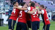 Lykogiannis Cagliari celebrating Roma Serie A