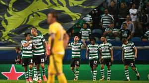 Sporting Lisbona celebrating Champions League