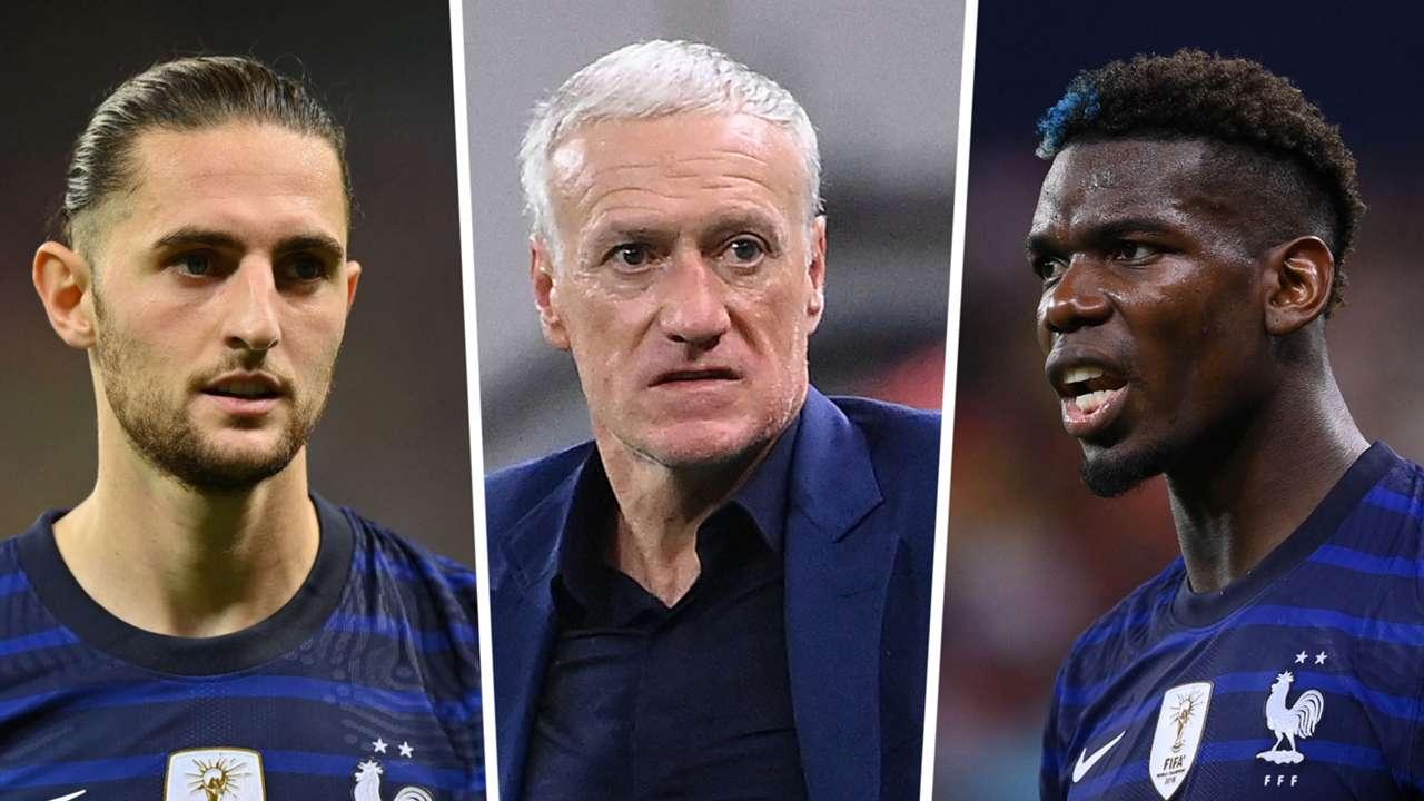 Adrien Rabiot Didier Deschamps Paul Pogba France GFX