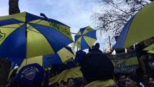 Banderazo Hinchas Boca Madrid 08122018
