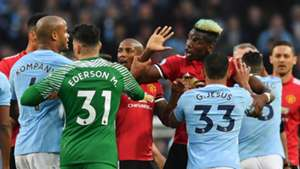 Paul Pogba Vincent Kompany Man City Man Utd