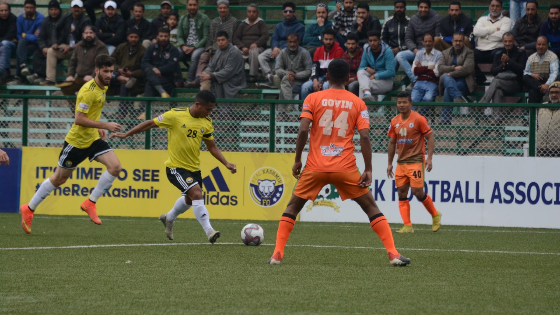 Danish Farooq's strike helps Real Kashmir edge out NEROCA FC