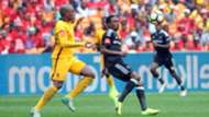Willard Katsande and Thembinkosi Lorch - Kaizer Chiefs v Orlando Pirates