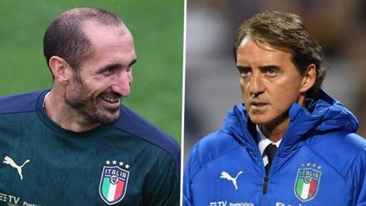 (Nations League) HLV Italia tán dương Chiellini sau 'tai nạn' hy hữu