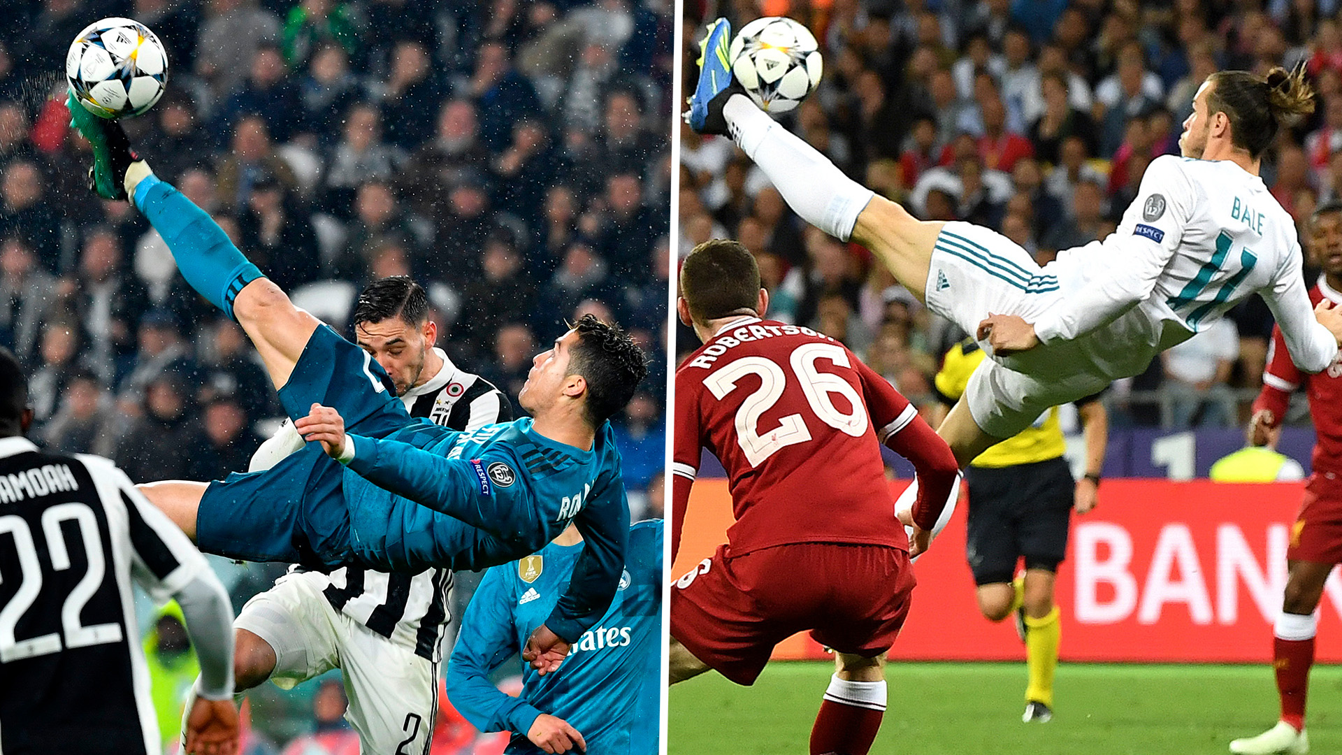 Cristiano Ronaldo S Overhead Kick Effort For Real Madrid Leads The Uefa Goal Of The Season Nominees But Gareth Bale Is Snubbed Goal Com