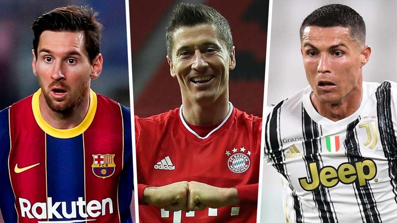 Lionel Messi Robert Lewandowski Cristiano Ronaldo 2020-21