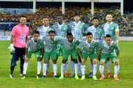 Melaka United first eleven against Selangor 27/1/2017