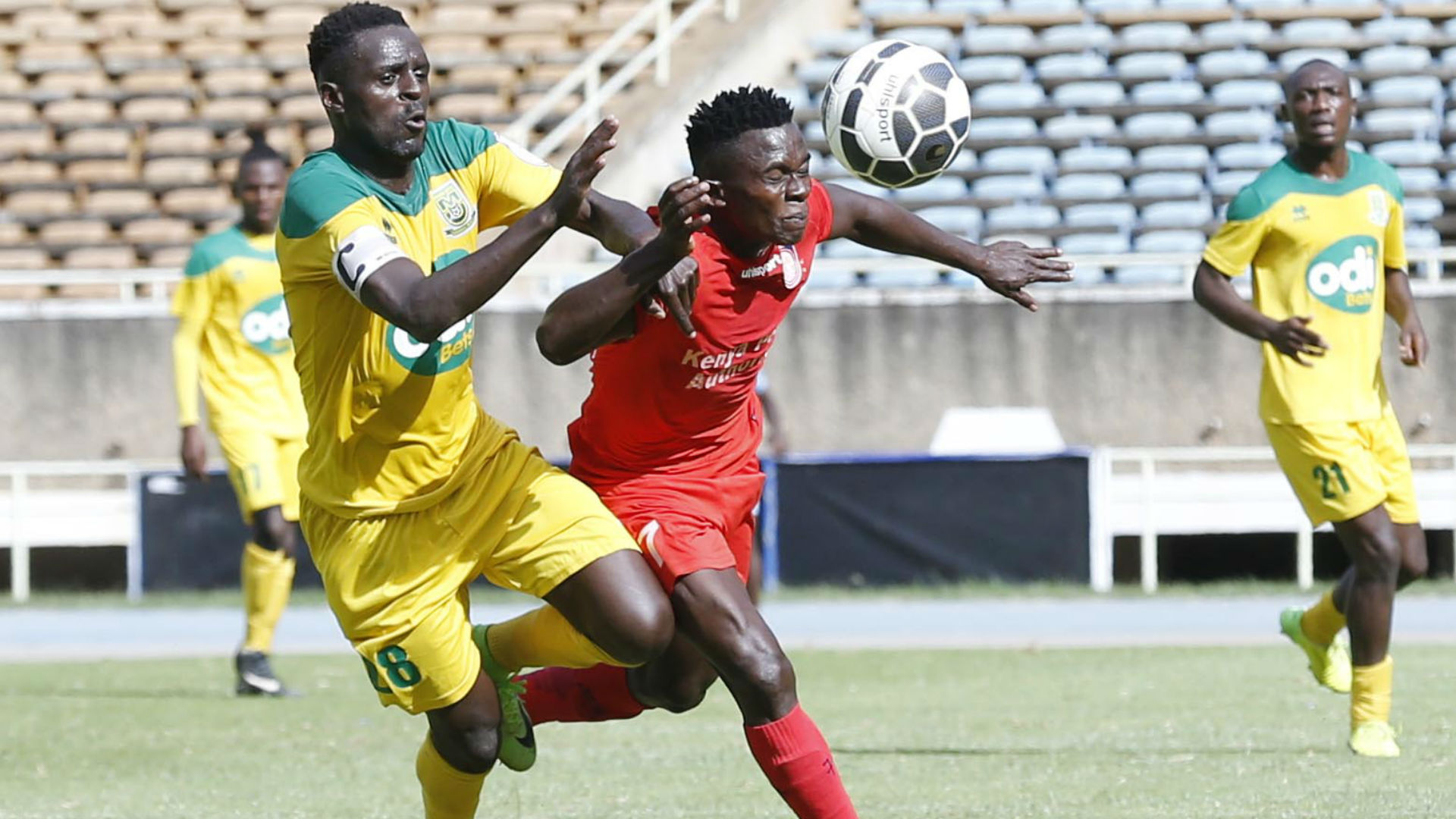 James Situma of Mathare United v Shaban Kenga of Bandari.