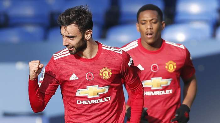Bruno Fernandes Anthony Martial Man Utd 2020-21