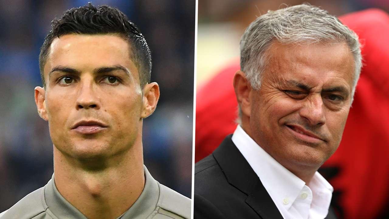 Cristiano Ronaldo Jose Mourinho GFX