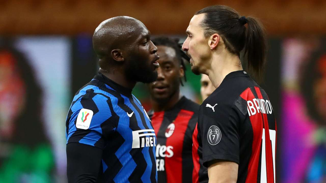 Lukaku Ibrahimovic fight Inter AC Milan 2021