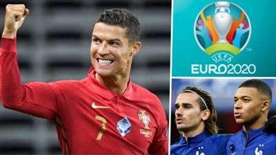 Cristiano Ronaldo Portugal Antoine Griezmann Kylian Mbappe France Euro 2020