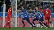 Alaves celebrating Sevilla Liga