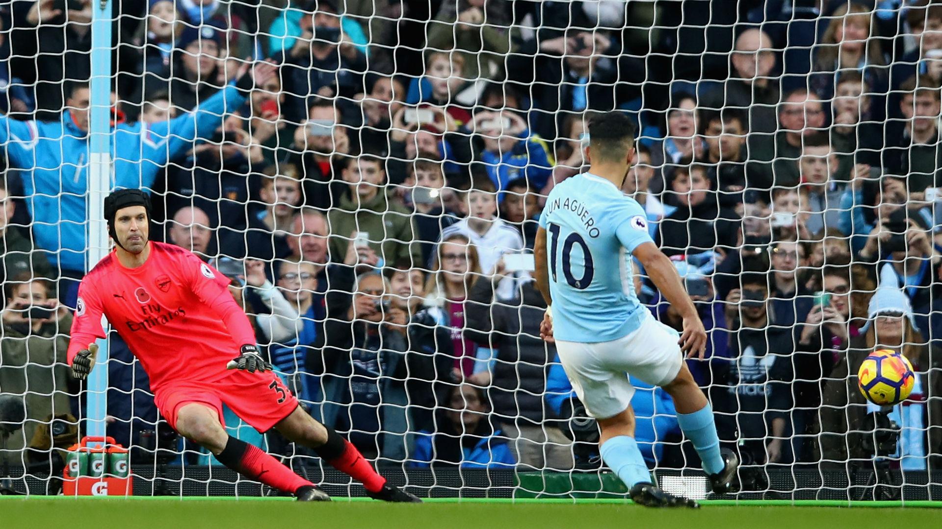 Petr Cech Arsenal Sergio Aguero Manchester City