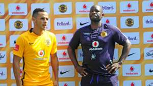 Gustavo Paez and Steve Komphela of Kaizer Chiefs
