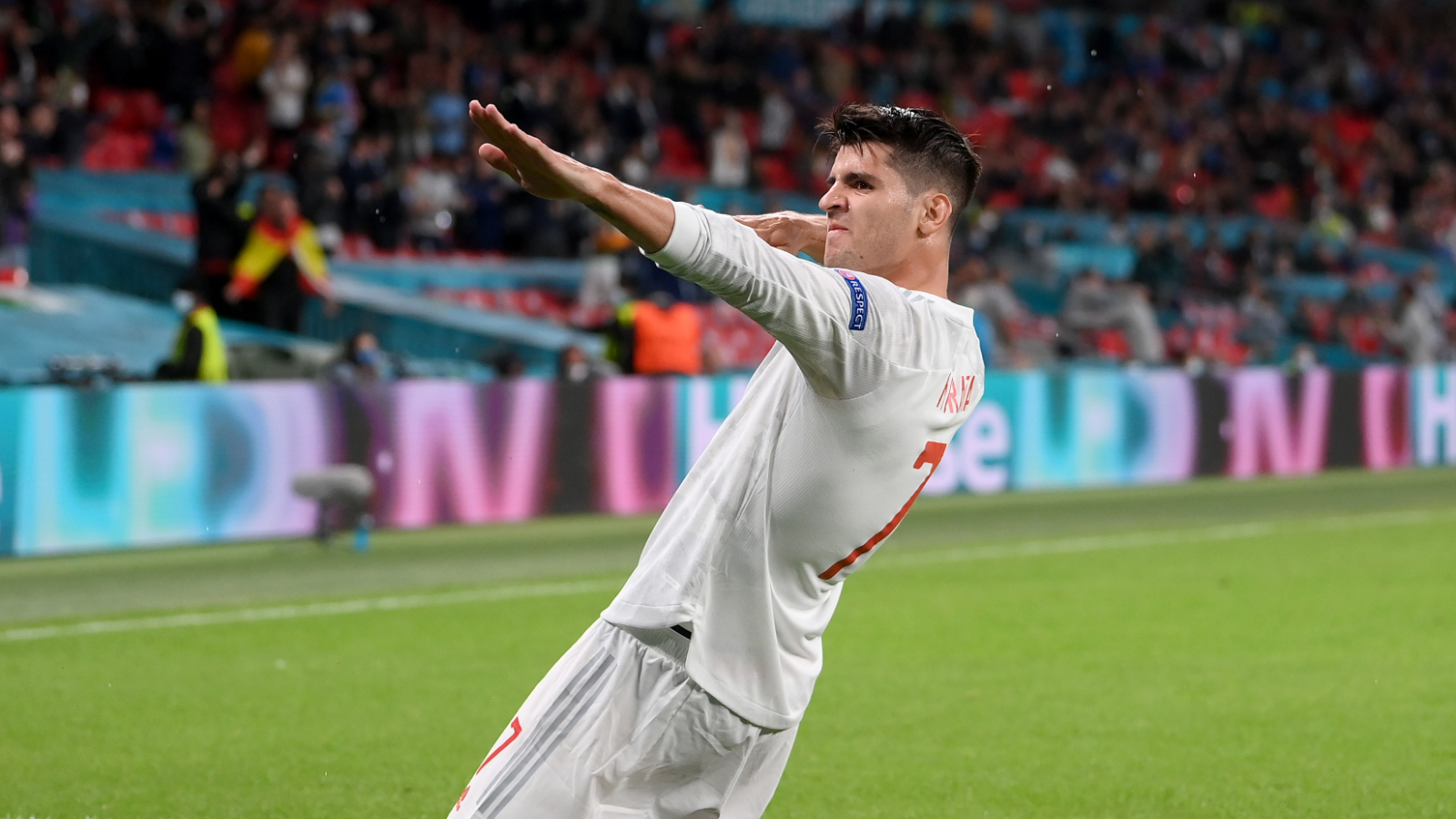 Morata overtakes Torres and joins Ronaldo to make history with dramatic late equaliser against Italy