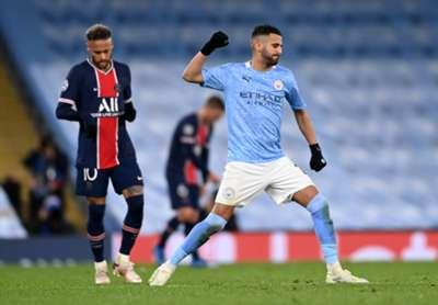 Riyad Mahrez. Manchester City vs PSG 05.04.2021