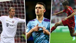 Manuel Neuer, Phil Foden, Thomas Muller