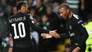 Mbappe Neymar Celtic PSG UCL 12092017