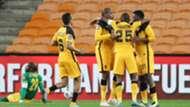 Lebogang Manyama celebrates Kaizer Chiefs goal
