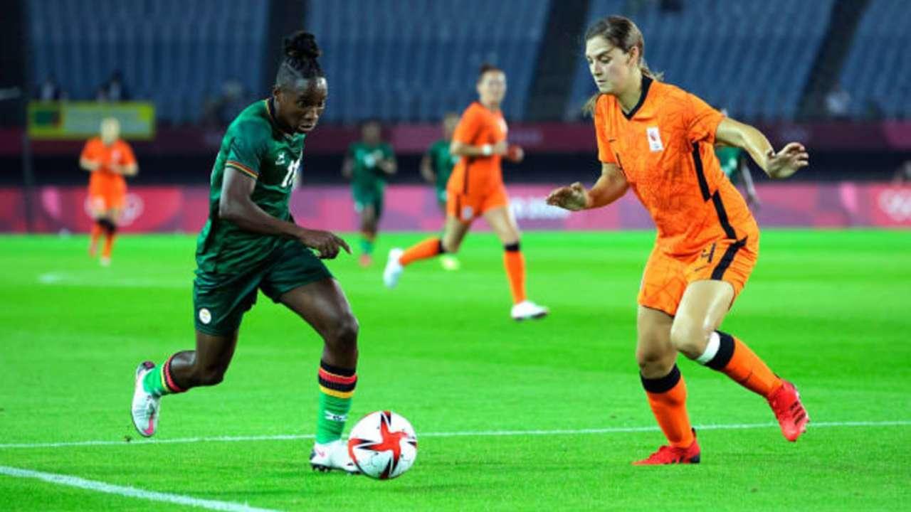 Zambia lose to Netherlands.