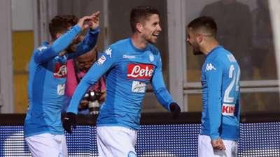 Dries Mertens Jorginho Lorenzo Insigne Benevento Napoli Serie A 02042018
