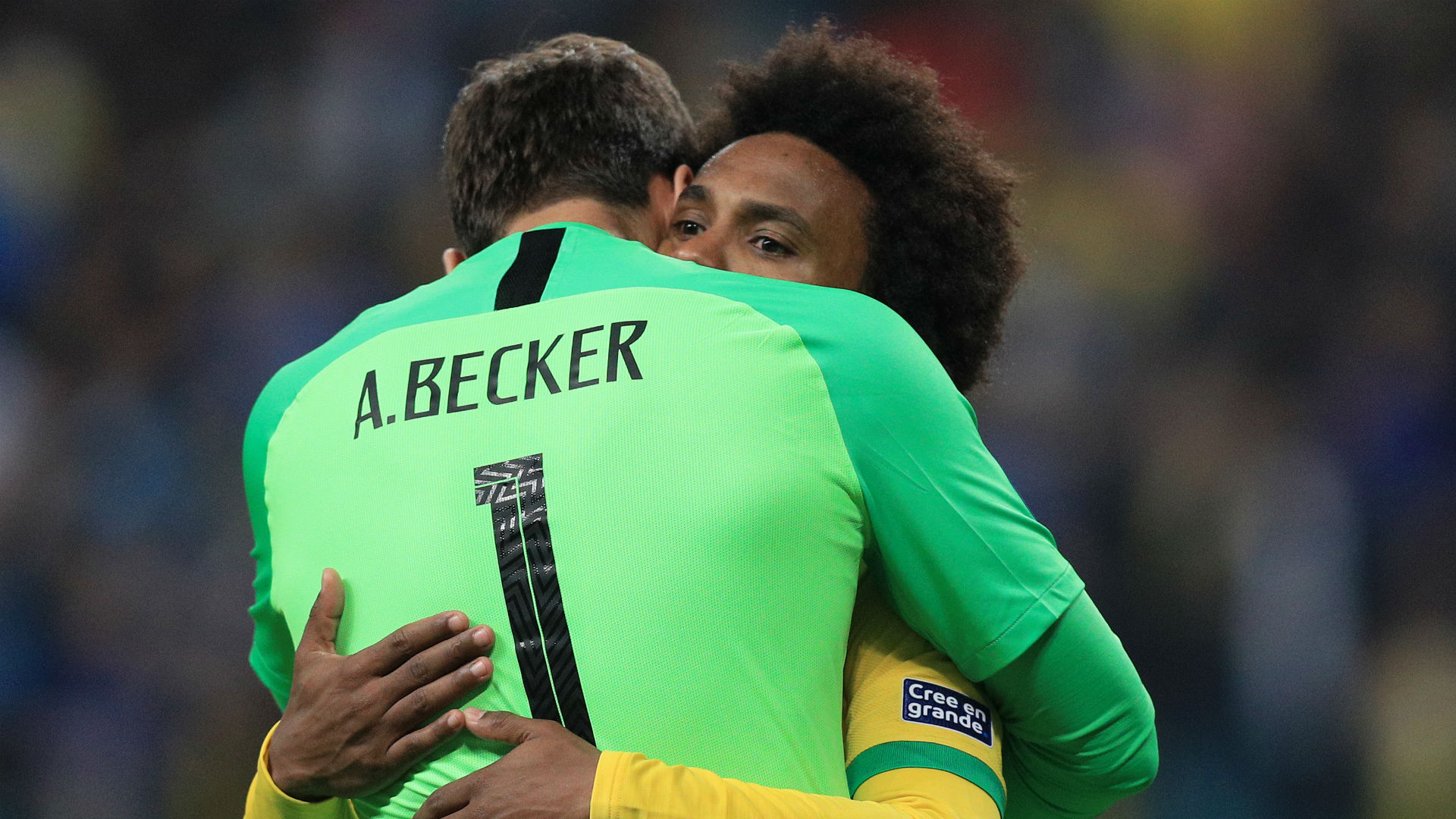 Alisson Becker Willian Brazil Copa America 2019
